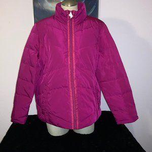 NEW Lands' End Winter Coat XL Down Dark Berry
